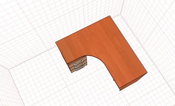 , Проект pro100 стол