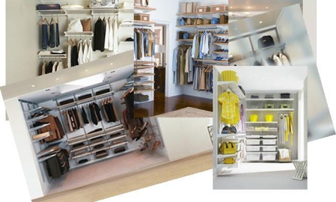 , Дизайн гардеробной комнаты из комплектующих ELFA