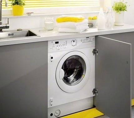 , Стиральная машина на кухне