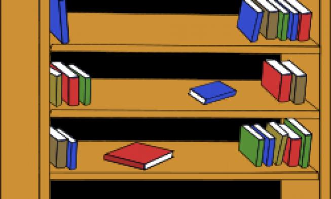 , Организация книжного шкафа в детской комнате