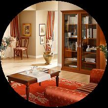 Гостиные комнаты мебель